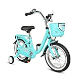 Product Image of the COEWSKE Kid's Bike Steel Frame Children Bicycle 14-16 Inch with Training Wheel