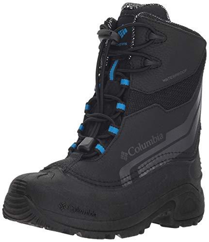 Columbia Youth Bugaboot Plus IV Omni-Heat Snow Boot, Black/Hyper Blue, 4 US Unisex Big Kid
