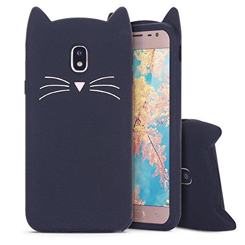 Cover per Samsung J5 2017 Custodia, Moevn 3D Carino Fumetto Gatto Morbida TPU Silicone Sottile Flessibile Sottile Gel Antiurto Protezione Case per Samsung Galaxy J5 2017 Smartphone 5,2 pollici (Nero)