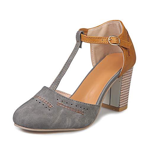 Onsoyours Zapatos De Tacón Alto Ancho, Sandalias De Vestir En Contraste Punta...