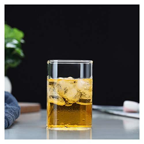 Taza de agua Taza de cristal Taza resistente al calor Café de cristal de la pared / tazas de té y tazas Cerveza Cola Taza tazas de café tazas cuadradas tazas de tazas de consumición de tazas de bebida
