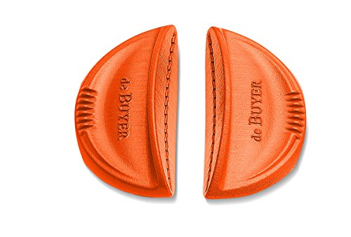 De Buyer 8360.30 Lot de 2 Anses Amovibles Silicone Oranges