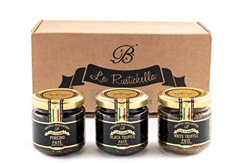 La Rustichella Nero, Bianco & Porcino Tartufo Paté Set270 g