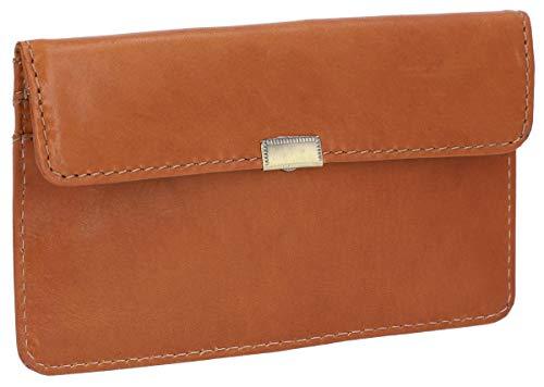 Gusti Leder 'Rani' Portemonnaie Portmonee Geldbörse Brieftasche Geldscheintasche Clutch Damen Vintage Braun Leder