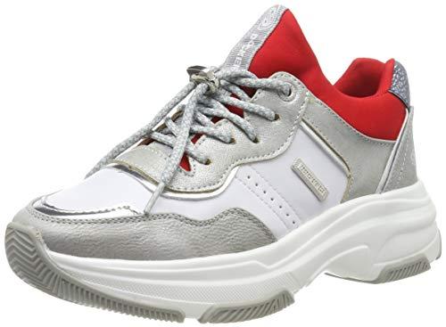 Dockers by Gerli Women's Low-Top Sneakers, Silver Silber Rot 557, 9.5