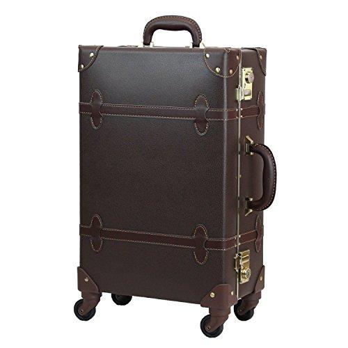 MOIERG(モアエルグ) キャリーバッグ 3年保証 キャリーケース スーツケース 軽量 (S, ブラウン)【71-55052-44】修学旅行 11色3サイズ