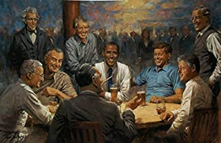 Peck and Gartner Andy Thomas The Democratic Club Signed Obama Art Print-(Paper Size 19 x 13 Image Size 17 x 11)