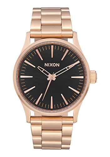 Nixon Unisex Sentry 38 SS All Rose Gold/Black One Size