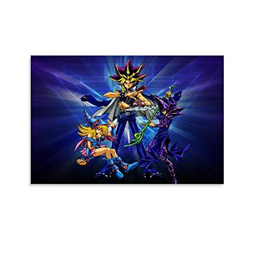 DRAGON VINES Yu Gi Oh Duel Monsters Atem Yugi Muto Dark Magician Millennium Puzzle de Mago Oscuro Mago Mago Mago Oscuro Póster de la Niña Maga Oscura