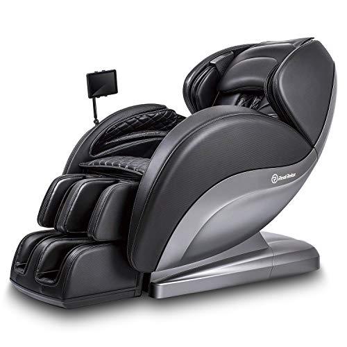 Real Relax Superior Massagesessel, 3D Shiatsu Ruhesessel mit Android-Bedienteil, Bodyscan, 24 Massageprogramme, Wärmefunktion und Zero-Wall Funktion(Schwarz)