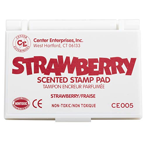 Center Enterprise Ready 2 Learn Scented Stamp Pad - Strawberry - Dark Pink - Non-Toxic - Fade Resistant - Fun Art Supplies for Kids