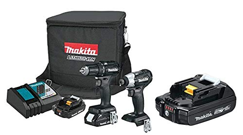 Makita CX200RB 18V LXT Lithium-Ion Sub-Compact Brushless Cordless 2-Pc. Combo Kit (2.0Ah) with free Makita BL1820B 18V Compact Lithium-Ion 2.0Ah Battery