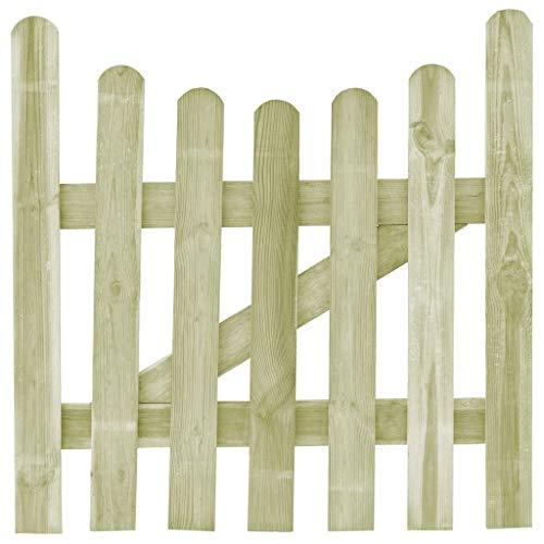 Festnight Cancello per Steccato da Giardino Esterno in Legno di Pino Impregnato FSC 60cm/80cm/100cm/150cm