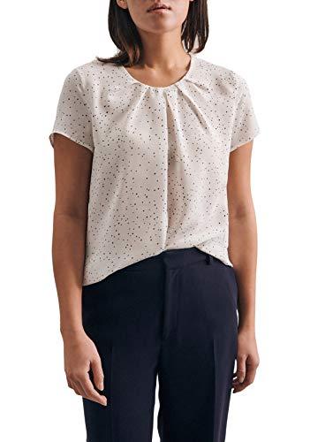 Seidensticker Damen Fashion kurzer Arm Bluse, Weiß (01), 42