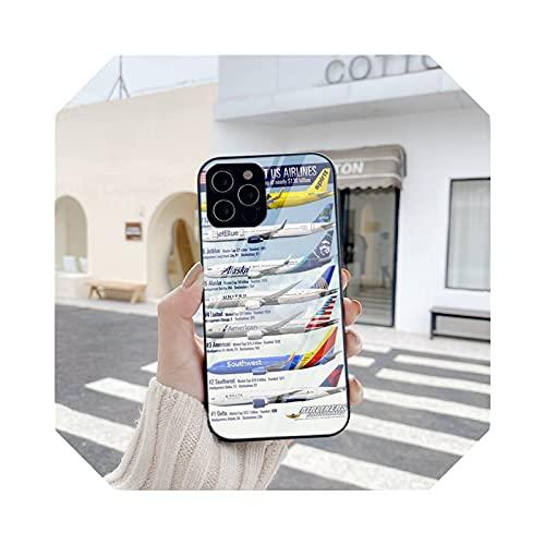 Carcasa para iPhone 6, 6S, 7, 8 Plus, XR, XS, XSmax 11, 12 Pro Mini Max Tempered Glass A7-para iPhone