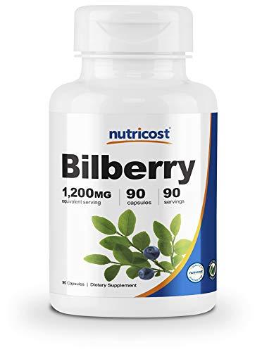 Nutricost Bilberry Capsules 1200mg (90 Vegetarian Capsules) - Gluten Free and Non-GMO