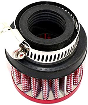 AKDSteel Universal 25mm Car Motor Cold Air Intake Filter Kit Vent Crankcase Breather Part red
