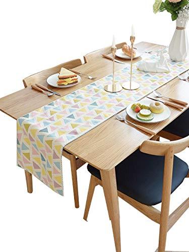 Branfan Nordic tafelloper moderne eenvoudige tafel decoratie doek strip Amerikaanse TV kast deksel doek doek handdoek tafel salontafel lopers - kleur driehoek_33x140cm