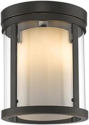 Hinkley 3300AN Restoration One Light Flush Mount from Hadley collection in Pwt B//S Nckl Slvr.finish,