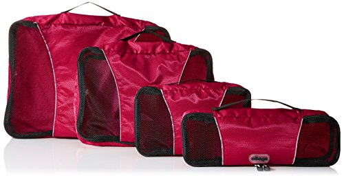 eBags Classic 4pc Packing Cubes (Raspberry)