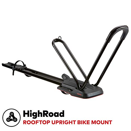 YAKIMA - Highroad Wheel-On Mount Upright Bike Carrier for Roof Racks, 1 Bike Capacity