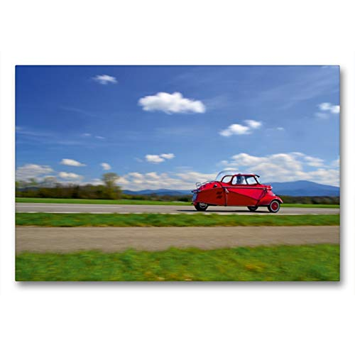 CALVENDO Lienzo Premium de 90 x 60 cm, Formato Transversal de Messerschmitt KR 200, año de construcción 1961, Imagen HD sobre Bastidor, Imagen premontada en Fieltro, impresión en Lienzo de Ingo Laue
