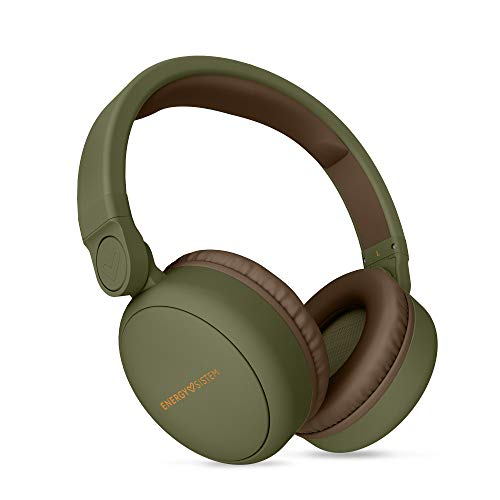 Energy Sistem Headphones 2 Bluetooth (Auriculares inalambricos,Circumaural, Plegable, bateria Recargable,Audio-in) Verde