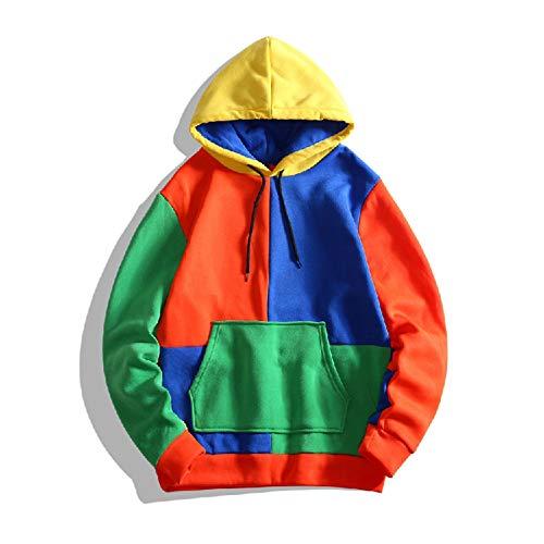 DPGPLP Suéteres con capucha, ajustados, deportivos, con bloqueo de color, con capucha, casual, sudadera con capucha para niños y niñas, 2, XXL