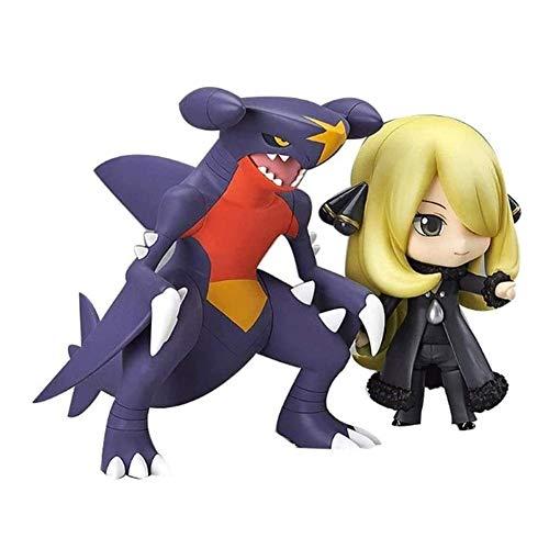HONGNA Pokémon Anime Action Figure Cynthia Garchomp Nendoroid PVC Figures Collectible Model Character Statue Toys Desktop Ornaments