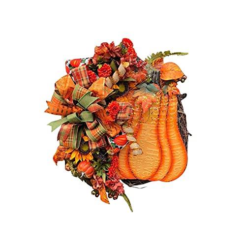 Kunstmatige Herfstkrans, Herfstpompoen Bloemen Wijnstok Krans Deur Hangend Ornament Voor Voordeur Muur Raam Boerderij…
