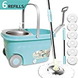 Best Spinning Mops - Spin Mop Floor Cleaning Supplies - Favbal Stainless Review