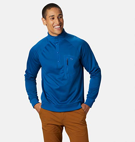 Mountain Hardwear Norse Peak Pull Semi-zippé pour Homme, Homme, Nightfall Blue, Large