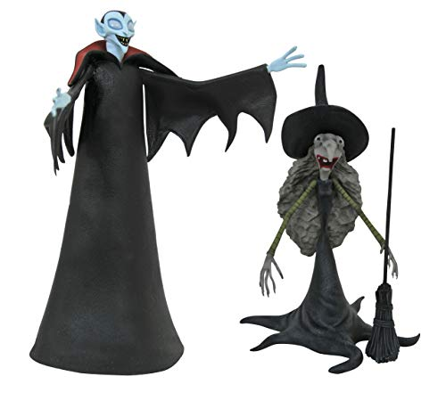 DIAMOND SELECT TOYS The Nightmare Before Christmas: Small Vampire with Tall Witch Action Figure 2 Pack