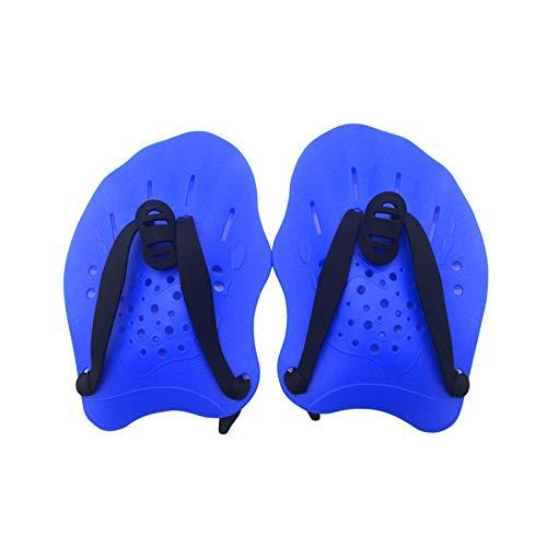 ALEOHALTER Paletas de natación, entrenamiento de práctica con correas ajustables, aletas de mano para hombres, mujeres y niños