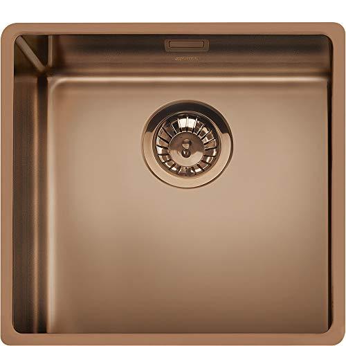 SMEG VSTR50CUX Mira - Fregadero de cocina colgante, acero inoxidable, cobre