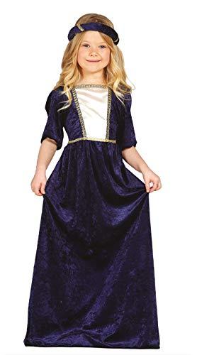 FIESTAS GUIRCA Disfraz Noble cortesana Dama Medieval niña Talla 3-4 años