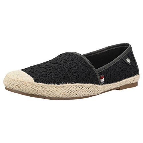 MUSTANG Damen Espadrilles Schwarz, Schuhgröße:EUR 39