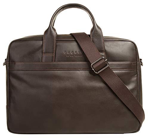 Bugatti Corso Leder Businesstasche für Damen und Herren mit 15