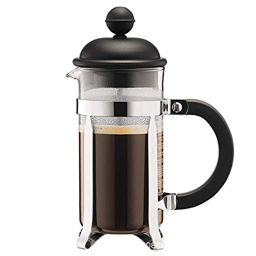 Vobajf Caffettiere a pistone French Press Pot Domestica Portatile Coffee Pot Mano Coffee Pot Cup Filtro cafetieres (Colore : Black, Size : 350ml)