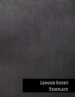 Ledger Sheet Template: Three Columnar Format