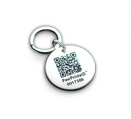 Paw Prints ID QR Smart GPS Pet Collar Rescue and Recovery ID Dog Tag