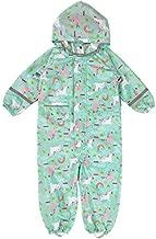 Kids One Piece Rain Suit Boys Girls Waterproof Rainsuit Toddler Rain Coat Coverall Dinosaur S