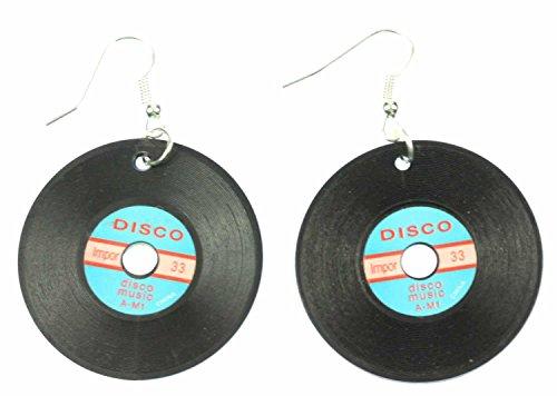 Schallplatte Ohrringe Miniblings Schallplatten LP Vinyl DJ Musik schwz blau XL