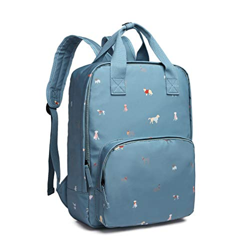 Kono School Backpack Bag Multi-Function Laptop Rucksack Casual Backpack Oilcloth Waterproof for School Travel Dogs in Jumpers (Blue)