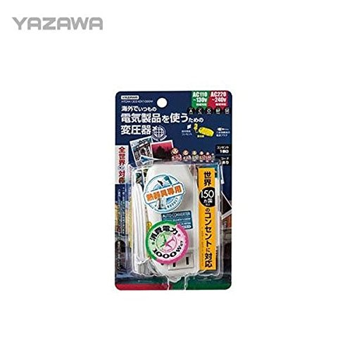 YAZAWA(ヤザワ) 海外旅行用変圧器 マルチ変換プラグ(A/C/O/BF/SEタイプ) HTDM130240V1000W