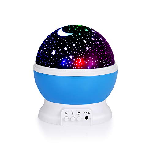 Star Night Light for Kids, Star Projector, 360 Degree Rotating LED Night Light Projection Lamp with USB Cable, Baby Night Lights for Bedroom Decoration, Christmas, Party, Birthday, Gift for Kids Baby