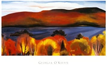 Lake George, Autumn, 1927 Art Poster Print by Georgia O'Keeffe, Overall Size: 39x24, Image Size: 32x16.75
