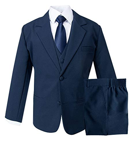 Spring Notion Boys' Classic Fit Blue Dress Suit Set 12M