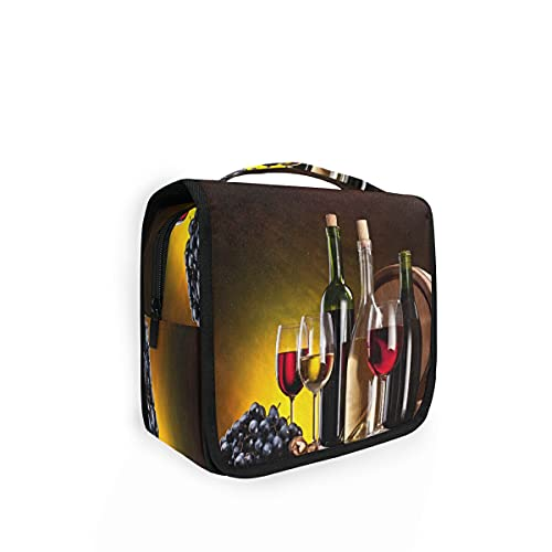 RXYY - Bolsa de aseo para colgar botellas de vino, plegable, para baño, gimnasio, portátil, bolsa de lavado cosmética para mujeres y niñas