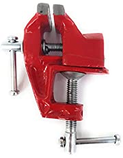 Mesa Tornillo envergadura 60mm ancho de mandíbulas 60mm Metal Fundido Rojo Resistente Mesa Tornillo Tornillo de banco (Modelo de mesa de diseño